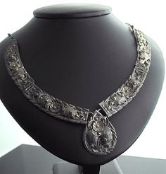 Navajo Silver Necklace  Ornate Sterling Silver by SITFineJewelry, $595.00