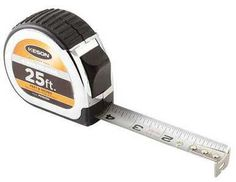 Keson PG1825SS 25' x 1 inch Measuring Tape 1/8, 1/16 Stainless Steel Blade