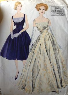 "Vogue Couturier Dress Pattern For Sale $145 Size 12 Bust 32"" Hip 34""  Extremely rare and highly sought after.  I am selling off most of my collection I have accumulated over the years. These include original 50s gowns and out of print wedding dress and costume patterns  Please email anelegantera@gmail.com for more details Paypal accepted"