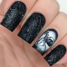 cdbnails: 31DC | Day 31 | Honor Nails You Love | Challenge Your Nail Art | Day 1-Black