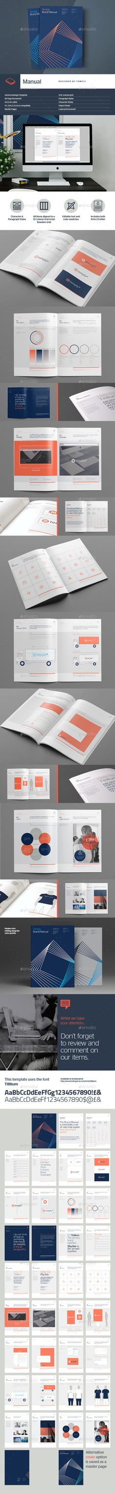 Brand Manual Template vol3 Brand manual - it manual template