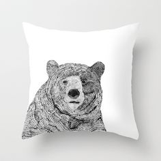 Cute+Bear+Throw+Pillow+by+Fred+and+Elsie+-+$20.00