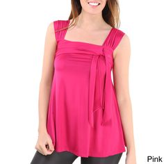24/7 Comfort Apparel Women's Side-tie Tunic Tank Top | Overstock.com Shopping - The Best Deals on Tanks & Tees