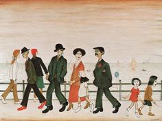 On The Promenade, by LS Lowry