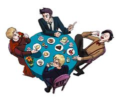 Tea party with Timelords by ~jay252525 on deviantART