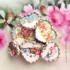 Plenty of antique broken china necklaces to choose from, perfect for gift giving!