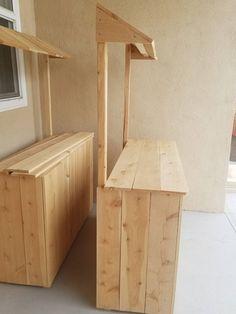 Woodworking Plans, Woodworking Projects, Food Cart Design, Diy Garden Furniture, Food Stands, Diy Bar, Cafe Shop Design, Deco Table, Restaurant Design