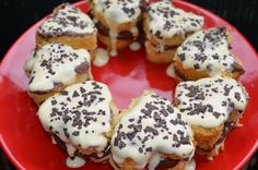 Heart Cookies Filled with Banana
