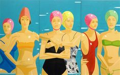Color, shape and emotional tension are this visual story by Alex Katz - Eleuthera (1984)