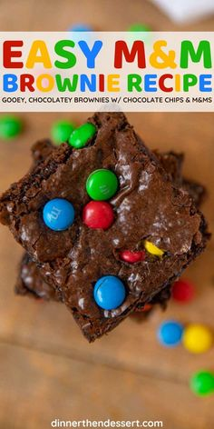 Hard Shell Chocolate, Molten Chocolate, Semi Sweet Chocolate Chips, Chocolate Brownies, Easy Delicious Recipes, Best Dessert Recipes, Fun Desserts, M M Brownies, Classic Brownies Recipe