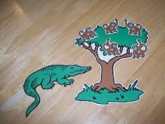 Magnetic story boards. Five little monkeys swinging in a tree. Teasing Mr. Alligator, you can't catch me.