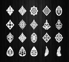 Earrings 20 digital file for laser cutting ( svg. Wood Earrings, Leather Earrings, Wooden Jewelry, Wire Jewelry, Router Stencils, Celtic Tree Of Life, Craft Fairs, Laser Engraving, Leather Craft