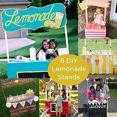 6 DIY lemonade stand