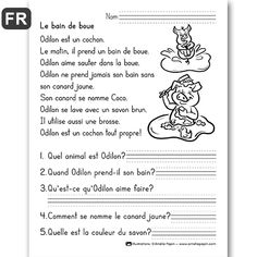 Printer Crafts Website How To Learn French Watches Read In French, Learn French, Learning French For Kids, Teaching French, French Language Lessons, French Lessons, Amelie Pepin, French Worksheets, French Education