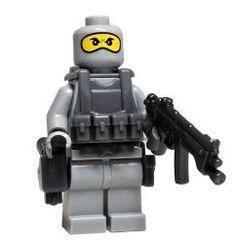 Gray Navy Seal (Balaclava) - miniBIGS Custom Minifigure. $17 USD