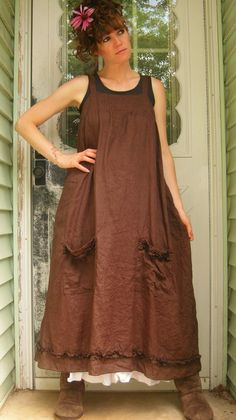 Long Pinafore by sarahclemensclothing on Etsy