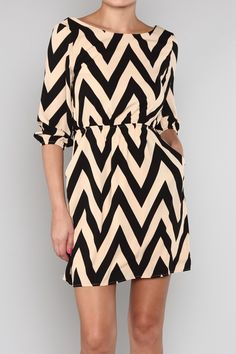 Chevron dress - this site has cute stuff
