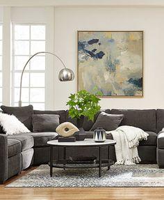 radley 5piece fabric chaise sectional sofa macyscom