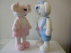 Bubbles and Bianca -2 PDF crochet patterns by Fjukten on Etsy