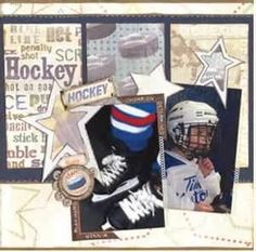 Image Search Results for hockey scrapbook layouts