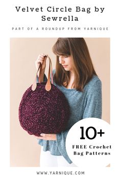 I've created a collection of some really cute and functional crochet bags. And the best part is they're all FREE!! Go to the post for direct links to each pattern. #freepattern #freecrochetpatterns #freecrochetbagpatterns #crochetmarketbag #diyhandbag #handmadebags #crochetroundup #crochetbagroundup #beginnercrochetpatterns #greenliving #diy #handmadeisbetter #yarniqueblog