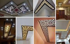 Modern CNC False Ceiling Corner Designs Ideas