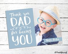 Fathers Day Photo Card // Personalized Printable Fathers Day