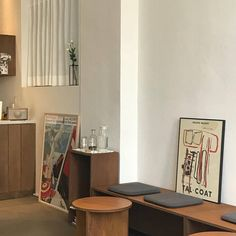 Cream Aesthetic, Aesthetic Rooms, Aesthetic Photo, Aesthetic Pictures, Aesthetic Vintage, Cafe Shop Design, Cafe Interior Design, Korean Cafe, Coffee Shop