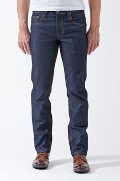 Vantage Point Slim-Straight Jeans in Indigo Montoya