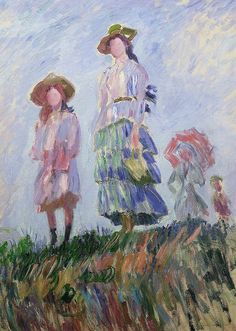 Claude Monet - The walk,1886 (sketch, private collection,102,5 x 75cm)