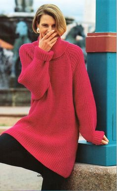 0931ec1eaf3b womens fishermans rib sweater knitting pattern pdf ladies ribbed long jumper  tunic polo neck baggy 28-42
