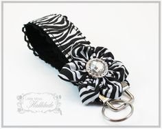 Key Chains  Wristlet Key Fobs  Fabric Key by LittleMissHattitude, $10.00