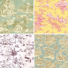 toile | Lately I've become fascinated with toile, that old fashioned fabric ...