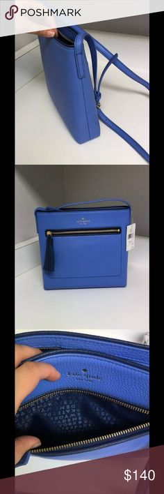 NWT Kate Spade New York Chester Street Dessi Bag NWT % Authentic Kate Spade New York Chester Street Dessi Leather Blue Crossbody  ** FREE DESIGNER PERFUME SAMPLE WITH EACH PURCHASE!! ** ♠️♠️♠️PRICE IS FIRM♠️♠️♠️ kate spade Bags Crossbody Bags
