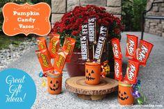 Halloween Decor: Transform Mason Jars into Pumpkin Candy Vases!