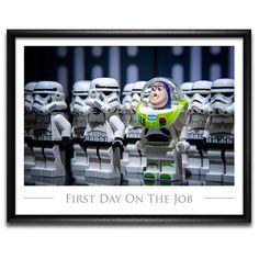 Star Wars ™ LEGO ® Stil Art  Spaß kreative Foto von SillyBrickPics