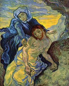 Art Oil Painting Vincent Van Gogh Virgin Mary and Jesus Christ in Field | eBay