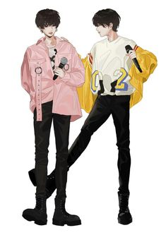 Handsome Anime Guys, Cute Anime Guys, Manga Anime, Anime Art, Concert Fashion, Fashion Design Sketchbook, Fantasy Art Men, Kpop Fanart, Boy Or Girl