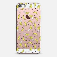 Bananas - Transparent - iPhone SE Case || @casetify