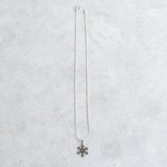 Snowflake charm necklace, Sterling silver snowflake charm necklace, Silver snowflake necklace, Christmas charm necklace (CH39) by SilverCartel on Etsy