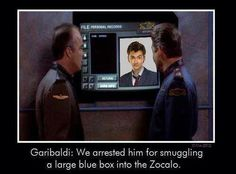 Babylon 5/ Dr who crossover. This made me LOL.