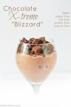"Healthy Mock Chocolate Xtreme DQ ""Blizzard"" (THM:S, Low carb, Sugar free, Gluten and Peanut free)"