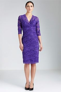 Dresses - Grace Hill 3/4 Lace Layered Dress