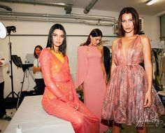 "bel-hadid: """"Kendall Jenner, Isabeli Fontana, and Bella Hadid backstage at the Fashion for Relief Gala runway show "" """