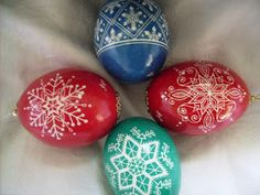 ... designs. She had some of the gorgeous traditional pysanky also, works