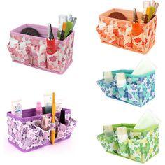 New Berkualitas kotak Penyimpanan Baru Makeup Kosmetik Kotak Penyimpanan Tas Terang Agenda Lipat Stationary Kontainer dig634