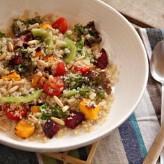 Detox Quinoa Salad with Roasted Veggies.