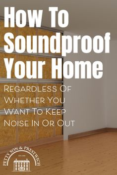 Regardless of whether you're looking to keep noise out or in, installing soundproofing into your property is probably something that's crossed your mind. Question is, how easy is it to soundproof your home effectively? Is it simply a case of buying some acoustic foam and slapping it on the walls, or is there more to it than that? Here, we look at the different types of noise and the best ways in which to reduce the impact they have on how we live. #soundproofing #noisereduction… Real Estate Buyers, Us Real Estate, Selling Real Estate, Real Estate Investing, Property Buyers, Interior Design Advice, Sound Proofing, Being A Landlord, Real Estate Marketing