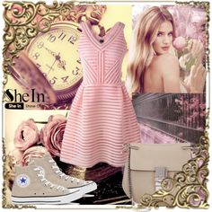 Shein contest by animeli-style on Polyvore featuring mode, Converse, Chloé and Whiteley