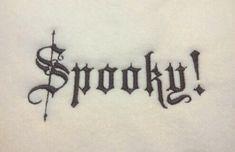 Spooky Halloween Machine Embroidery Design